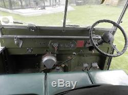 1950 Land Rover Series 1 80 lights behind grill