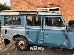 1966 Land Rover 109 LWB Safari Station Wagon 2.25 Petrol Unmolested Series 2a