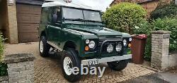 1968 Series Land Rover. Historic vehicle with Series III Galvanised Chassis