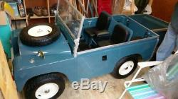 (1969 Land Rover Series 2) Electric Child's Ride On Blue/white Newly Built