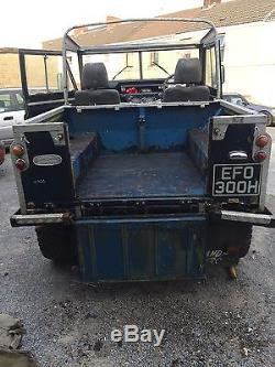 1970 LAND ROVER BLUE series 2a 200 tdi engine gearbox and disc axles for restro