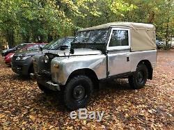 1970 Land Rover Series IIA 2A V8 SWB 88 soft top polished