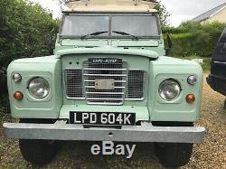 1971 Land Rover series 3 109 Carawagon 4 berth camper