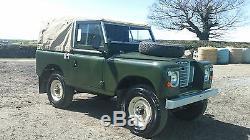 1972 Land Rover Series 3 88 SWB 2286cc petrol Tax ExemptNo Reserve