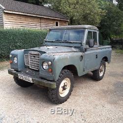 1973 Land Rover Series lll 88 Diesel MOT 19 Oct 18 Tax Exempt