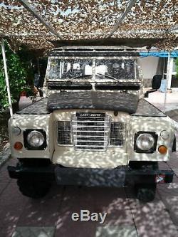 1974 Land Rover series 3 Santana. LWB. LHD. Spanish registered car in Spain