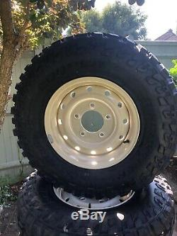 5 Land Rover Defender Series Heavy Duty Steel Wolf Wheels Cooper Stt Pro Tyres