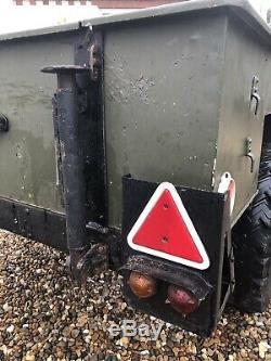 British Army Sankey Narrow Track Trailer For Land Rover Series Lightweight / 101