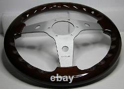 CLASSIC SPORT WOOD STEERING WHEEL 310mm 12.3 LUISI MAHOGANY SPORT MADE IN ITALY