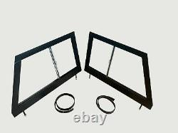 Front LH & RH Glazed Door Tops for Land Rover Series 2 2A 320853GL 320854GL