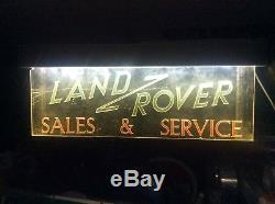 Genuine 1950 LAND ROVER series ONE main dealer garage showroom sign not enamel