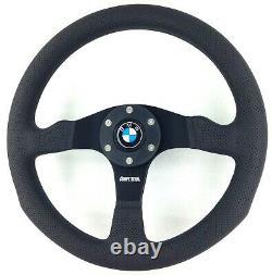 Genuine Momo Competition 350mm steering wheel. BMW horn. 3 5 6 7 series etc