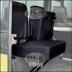 Individual Inward facing Rear Seat Black Land Rover Series/Def to`07 (DA4067)