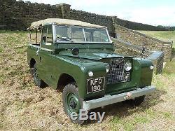 KFO 130 1963 Land Rover Series IIA Survivor! 34,498 miles