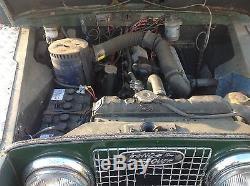 LAND ROVER SERIES 2A. 1962. Original 2.25 Diesel. Motd August 2017. Overdrive