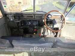 LAND ROVER SERIES 3 LIGHTWEIGHT Canvas top FAIREY FWH Rare Airportable 12V