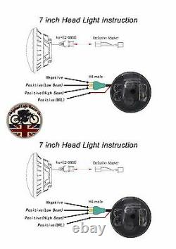 LED LYNX Headlights DRL x2 for Land Rover Defender 7 Inch DOT E9 MARKED