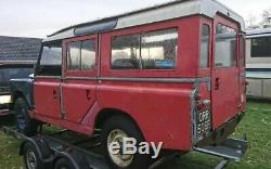 Land Rover 1967 2.6 L VERY RARE Series 2a Station Wagon Project SOLID CHASSIS