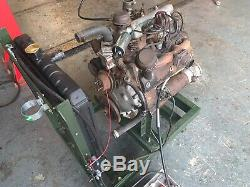 Land Rover 2 litre Spread Bore engine running and complete Series One 1 80