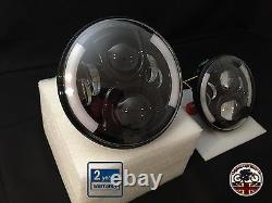Land Rover Defender 7 Inch LED Headlights Pair 50W E Marked UK EU DRL Indicator