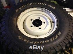 Land Rover Defender / Series 16 Steel Wheels, BF Goodrich tyres