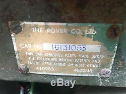 Land Rover Series 1 80 1950 LHD 1600cc NADA Survivor, so rust free & original