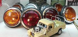 Land Rover Series 2 2a OEM Lucas L488 Glass Lens External Lights Complete Set