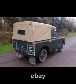 Land Rover Series 2 88 SWB hood with plain sides