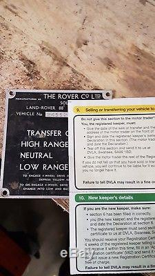 Land Rover Series 2 Chassis v5 log book