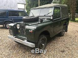 Land Rover Series 2a IIa 88 1962 Oxfordshire Reg UUD 205 2.25 Full Canvas Hood