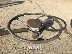 Land Rover Series 2a Steering Wheel. Column, Link Bar, And Box