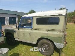 Land Rover Series 3 1980's SWB 88 Restoration Project 2.25L Diesel Runs & Drives