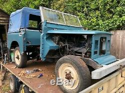 Land Rover Series 3, New half chasis