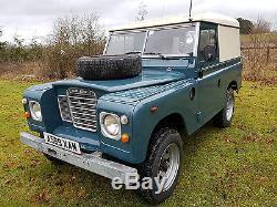 Land Rover Series 3 SWB 88 2.25L Diesel 1983 Very Tidy Solid Hard Top Van sides