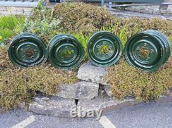 Land Rover Series Bronze Green Refurbished Wheels Exchange Set Of 4