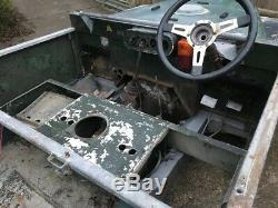 Land Rover series 1 one 80 V8 1950 project lights through the grill