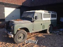 Land Rover series 2a 1970 project. Galvanised chassie & bulkhead. 2.25 lpg engin
