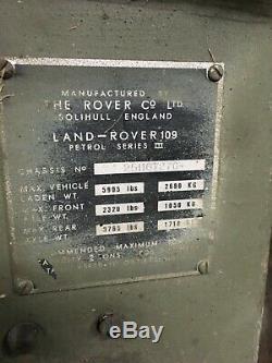 Land Rover series 3 Ex MOD