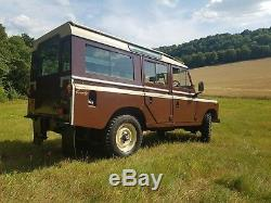 Land rover Series 3 109 county station wagon CSW LWB petrol 1980 safari restored