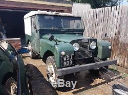 Land rover series 1 86 1956 landrover series unfinished project restoration