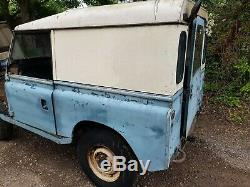 Land rover series 2 2a 3 swb 88 1966 tax mot exempt project hardtop