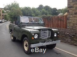 Land rover series 3 Tax Exempt