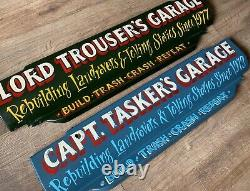 Personalised Hand Painted Land Rover Series Front Valance Apron, Garage, Display