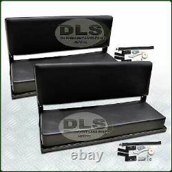 Rear Bench Seat Set Black Vinyl Land Rover Defender 90 to`07, Series SWB 320737