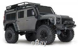Traxxas TRX-4 Scale Trail Crawler Land Rover Karosserie in Grau mit Anbauteilen