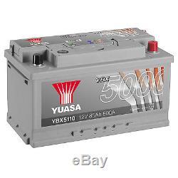 Yuasa YBX5110 12V Silver 110 Series Car Battery 85Ah 800A